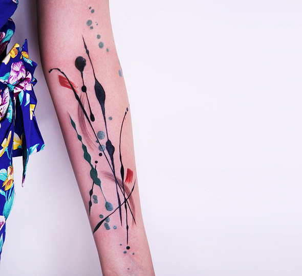 Abstract Watercolor Tattoos And Arm Tattoo: Innovation In Tattoo With Amanda Wachob