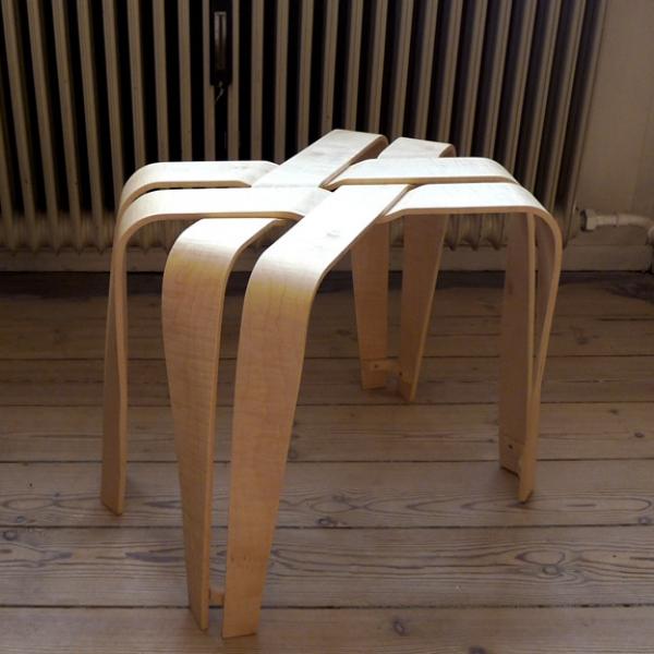 Weave Stool, Veneer, 2009.