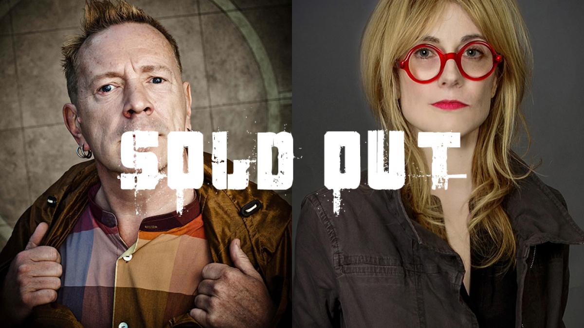 Left: John Rotten Lydon, Right: Gillian McCain