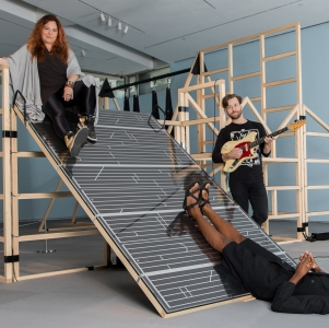 At Play Performing Artists-in-Residence Stephanie Acosta, Steven Reker, and NIC Kay