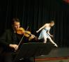 Lauren Toole and Erik Carlson (violin): photo: Terry