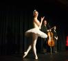 Michelle Wiles, Elad Kabilio (cello), and Yael Manor (piano): photo: Terry