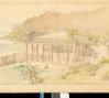Conceptual drawing of Playhouse at Shangri La, ca. 1936.  H. Drewry Baker, Wyeth & King, Architects, image courtesy Shangri La Historical Archives, Doris Duke Foundation for Islamic Art, Honolulu, Hawai'i.