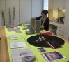 Artist Maria Hupfield at work in the Open Studios.