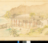 H. Drewry Baker; Wyeth & King, Architects: Conceptual drawing of Playhouse at Shangri La ca. 1936