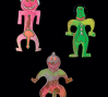 Billy Boy (1988), France: Three figural brooches. Hand Painted resin. Signed Billy Boy Surreal Bijoux. © Pablo Esteva