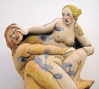 Akio Takamori: Nymph and Satyr, 2011  Stoneware with underglazes  34 x 25 x 10 in. (86.4 x 63.5 x 25.4 cm)  Courtesy of the artist; Barry Friedman, Ltd.  Photo: Vicky Takamori
