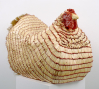 Willie Cole: Malcolm's Chicken I, 2002, Styrofoam, matches, brooms, wax, marbles 26 x 20 1/2 x 34 in. (66 x 52 x 86.5 cm) Private collection, Birmingham, AL Courtesy of Alexander and Bonin, New York