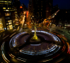 A night view of Columbus Circle from the 6th floor