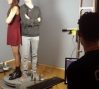 Students being 3D scanned in the galleries at MAD.: Students being 3D scanned in the galleries at MAD.
