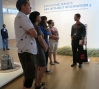 Nate leads a tour for students from the Brooklyn Museum