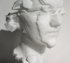 Head of a Young Woman II: Head of a Young Woman II, laser-sintered nylon, 2010