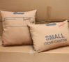 Carton Pillows, multicolor double-sided screenprint on cotton sateen, 2010.