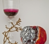 """Pomegranate (Inverted Vanitas), 2010, Pate De Verre, Blown Glass, Mirror"