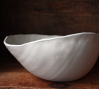 Egg Bowl, wheel thrown and sculpted porcelain, 2011.: Egg Bowl, wheel thrown and sculpted porcelain, 2011.