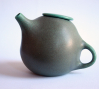 Bartlett Teapot, wheel thrown and altered stoneware, 2011.: Bartlett Teapot, wheel thrown and altered stoneware, 2011.