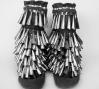 Jingle Boots, 2012. felt and metal: Jingle Boots, 2012. felt and metal