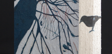 G. Peter Jemison: Crow in the Stadow, 2011