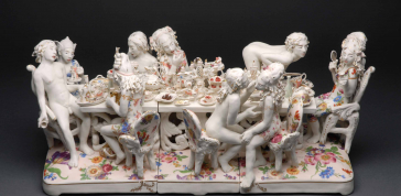 Chris Antemann: Lust & Gluttony, 2008 Porcelain 10 3/4 x 25 3/4 x 11 1/2 in. (27.3 x 65.4 x 29.2 cm)  Museum purchase with funds provided by Nanette L. Laitman, 2008  Photo: Mark LaMoreaux