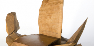 J.B. Blunk; Scrap Chair, 1968: 39 1/2 x 49 1/4 x 26 in. (100.3 x 125.1 x 66 cm) Museum of Arts and Design, Museum purchase with funds provided by the Collections Committee and the Maloof Fund, 2013, 2013.52 Photo Credit: Leslie Williamson