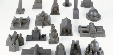 Constatin Boym, Laurene Leon Boym, Composite bronze: Eighteen Buildings (from the Missing Monuments Series), 1997–9, Photo: Eva Heyd