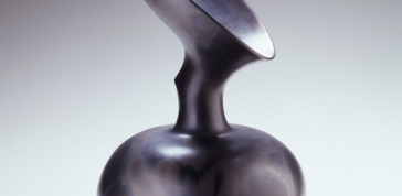 Magdalene Odundo: Untitled #10, 1995; Earthenware; 21 1/4 x 12 x 12 in.; Newark Museum, Purchase 1996 Louis Bamberger, Bequest Fund 96.29; Photo by Richard Goodbody