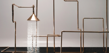 Axor WaterDream / Axor ShowerProducts, 2014 : Axor WaterDream / Axor ShowerProducts, 2014<br> Copper, brass<br>  120 x 240 in. (304.8 x 609.6 cm)<br> Courtesy of Hansgrohe/Axor<br> Photo by Alexander Schneider