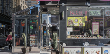 Richard Estes: Corner Café, 2014