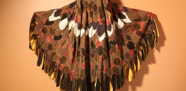 Neshama Franklin: Eagle Cape made for Gino Sky Poet-Performer, 1972