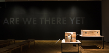 Installation view of <em>Unpacking the Green Book: Travel and Segregation in Jim Crow America</em>