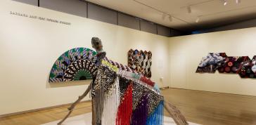 Installation view of <em>Surface/Depth: The Decorative After Miriam Schapiro</em>