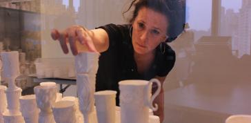 Margaret Braun: Installing <i>2,000 Sugar Cups</i>