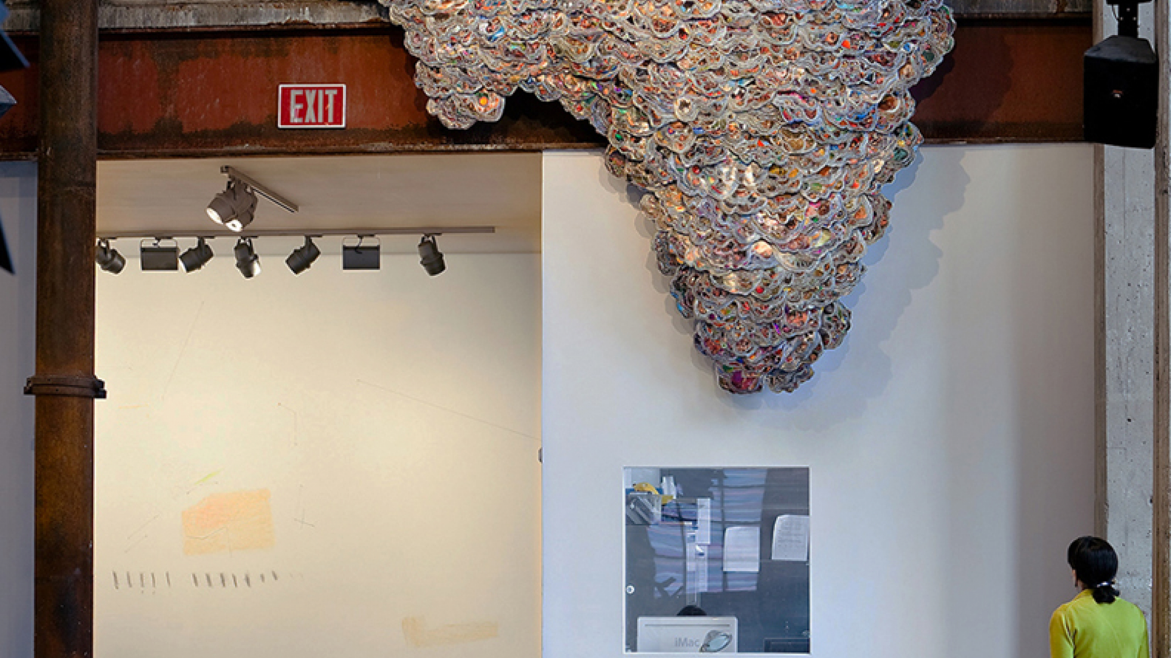 Geographic Wave, National Geographic magazines, binder clips, 2009-2011.