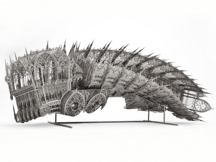 Wim Delvoye, Twisted Dump Truck (Counterclockwise – scale model 1:5) (2011)