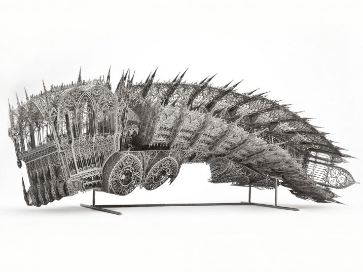 Wim Delvoye, Twisted Dump Truck (Counterclockwise – scale model 1:5) (2011)