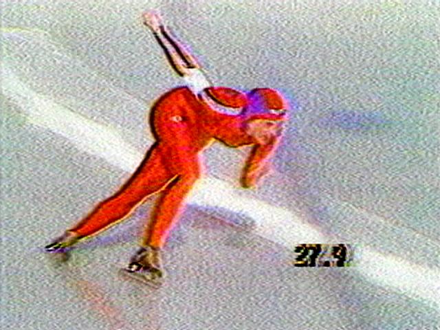 "Dara Birnbaum. ""Pop-Pop Video: General Hospital/Olympic Women Speed Skating,"" 1980. Courtesy Electronic Arts Intermix (EAI), New York."