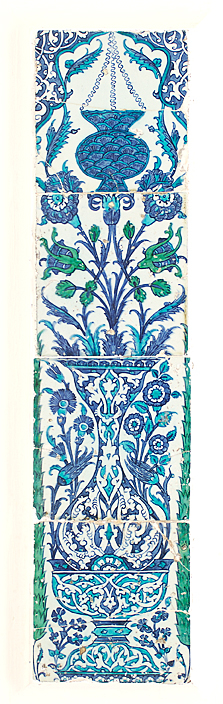 Tile panel, Turkey (possibly Istanbul) ca. 1650