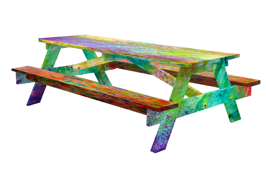 Aaron Anderson and Eric Timothy Carlson: Sketch for †ΗΞ Ο†ΗΞ® †▲b❙ Ξ: Colored Wood and Shape Benefit, 2013, image courtesy of the artist