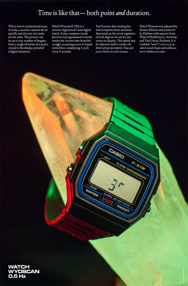 Dexter Sinister and Erik Wysoscan: Watch Wyoscan 0.5 Hz, 2012 – 2013, image courtesy of the artist
