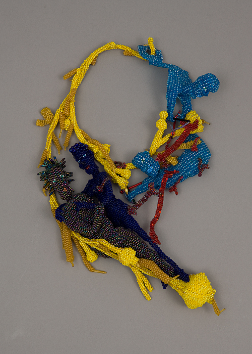 Lovers, 2002: Joyce Scott; Glass beads, thread; Gift of Mimi S. Livingston, 2008, Photo by Matthew Cox