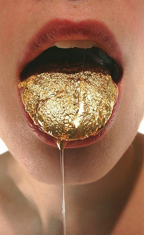 Lauren Kalman, Tongue Gilding, 2009: Digital video, 12 minutes; Courtesy of the artist and Sienna Patti