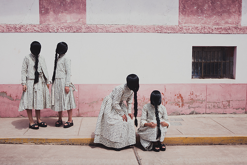 Lucia Cuba, Artículo 6, from the series Artículo 6: Narratives of gender, strength and politics (2012-2014): Cotton canvas, thread, digital printing, hand & machine sewing. Courtesy of the artist. Peru. Photo by Erasmo Wong Seoane.