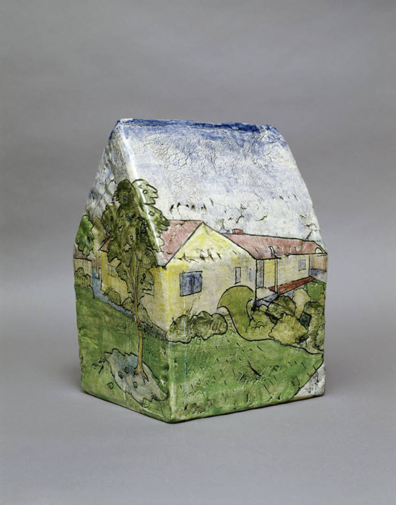 Robert Arneson; Box House Landscape with a View of Alice and