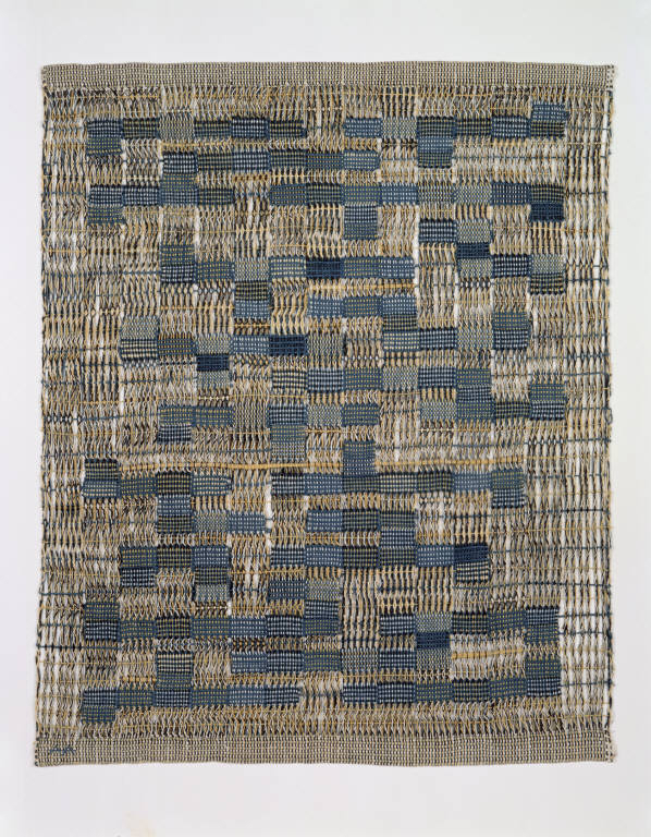 Anni Albers; Tikal, 1958: Cotton, plain weave, leno weave 30 x 23 in. (76.2 x 58.4 cm) Framed: 35 1/2 x 29 1/2 in. (90.2 x 74.9 cm) Museum of Arts and Design, Gift of the Johnson Wax Company, through the American Craft Council, 1970, 1979.3.5 Photo credit: Eva Heyd