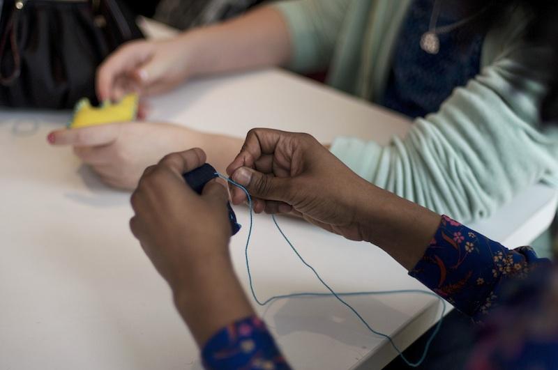 Hands-on activities in progress. Photo: Johnathan Gardenhire: Hands-on activities in progress. Photo: Johnathan Gardenhire