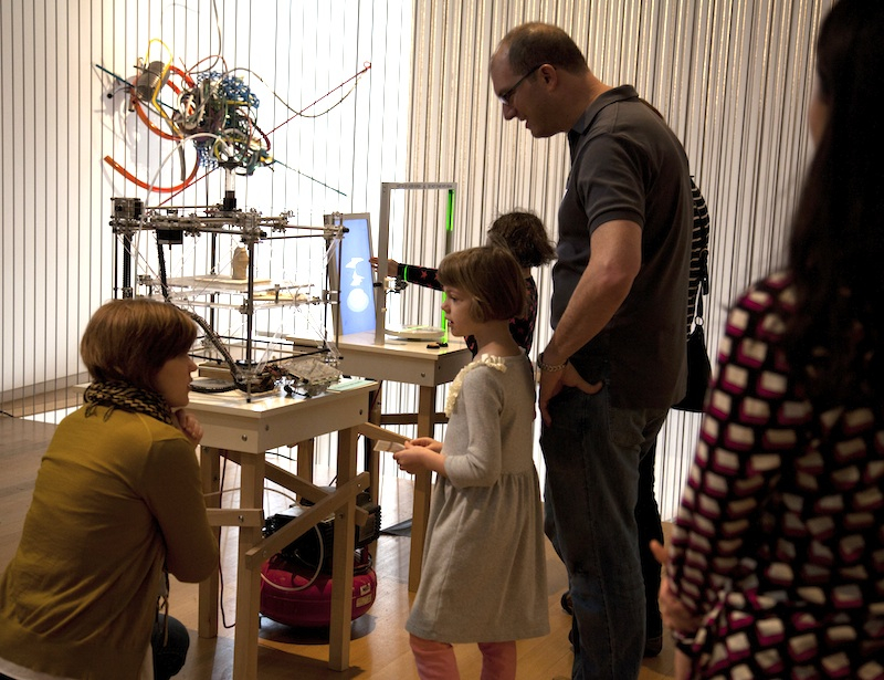 families exploring the galleries: families exploring the galleries