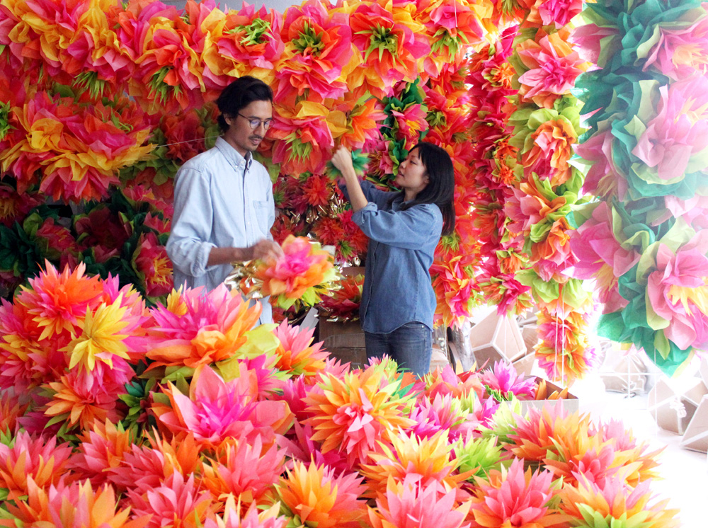 Nick and Julie of CONFETTISYSTEM in their New York Studio: Photo: CONFETTISYSTEM