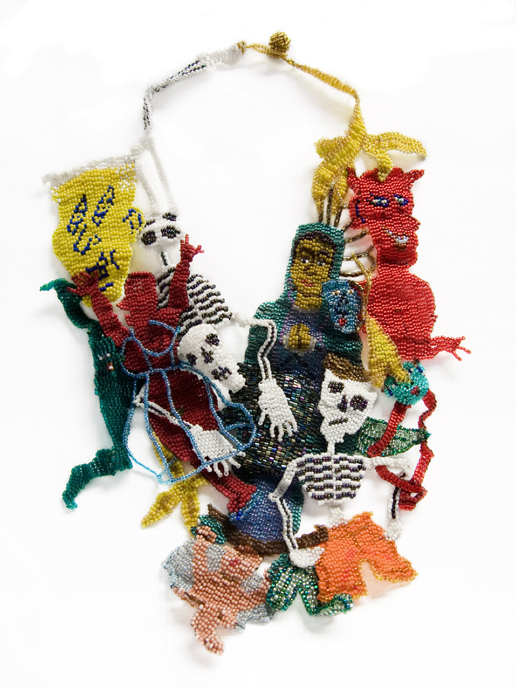 Virgin of Guadalupe, 2009: Woven glass beads; Courtesy of Mobilia Gallery, Cambridge, MA