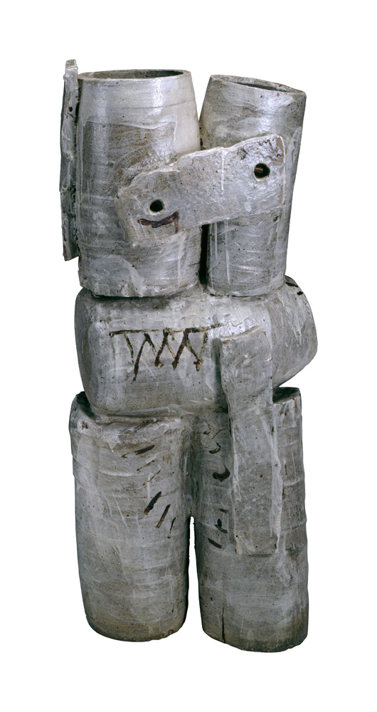 Peter Voulkos, American, 1924 - 2002; Vase, 1956: Stoneware 1/2 x 17 x 13 in. (100.3 x 43.2 x 33 cm) Museum of Arts and Design, Gift of Mr. and Mrs. Adam Gostomski, through the American Craft Council, 1962, 1962.1 Photo Credit: Eva Heyd