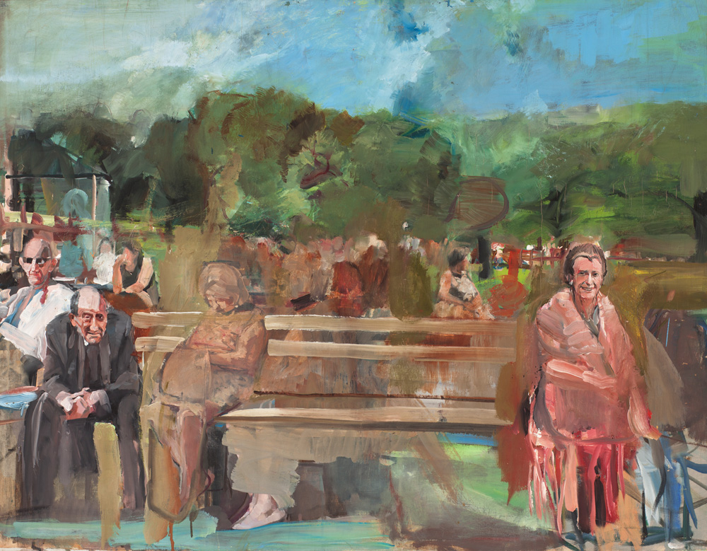 Seated Figures, Central Park (1967): Oil on canvas 36 x 46 in. Private collection Photo by Luc Demers